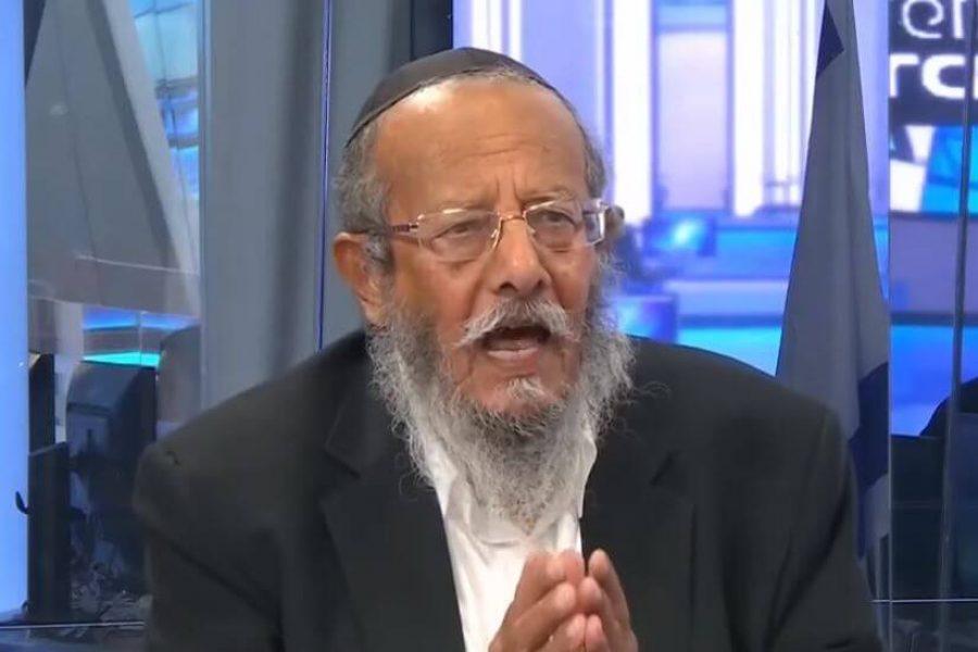 הרב אליעזר מזרחי צילום: מתוך שידורי ערוץ 20